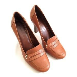 Banana Republic Penny Brown Leather Loafer Heel